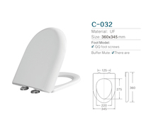 U shape Americal standard Pure UF material soft close toilet seat cover easy clean ceramic toilet seat cover
