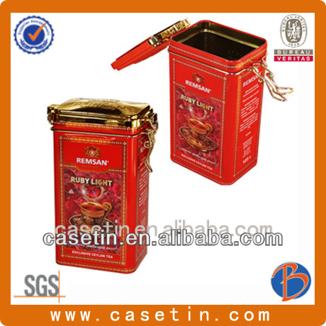 Hermetic stamping sweets hinged tins with sealing ring