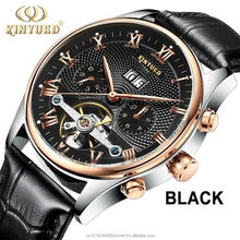 Fashion Men's Six-pin Mechanical Automatic Hollow Luminous Wrist Watch