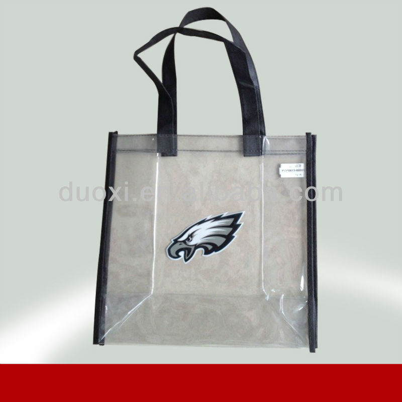 Visible Eco-friendly water proof vinyl beach tote bags 100% manufacturer