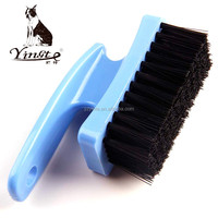 High quality plastic handle easy clean shoe brush with manufacture hair brush