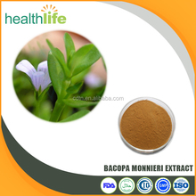 Factory Supplying Natural Bacopasides 50% Bacopa Monnieri Extract