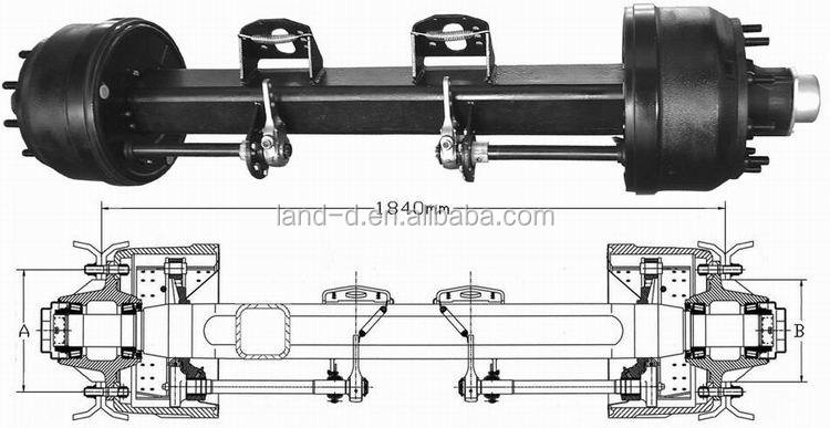 Manufacture Truck Part Inboard Drum Rear Square Beam Heavy