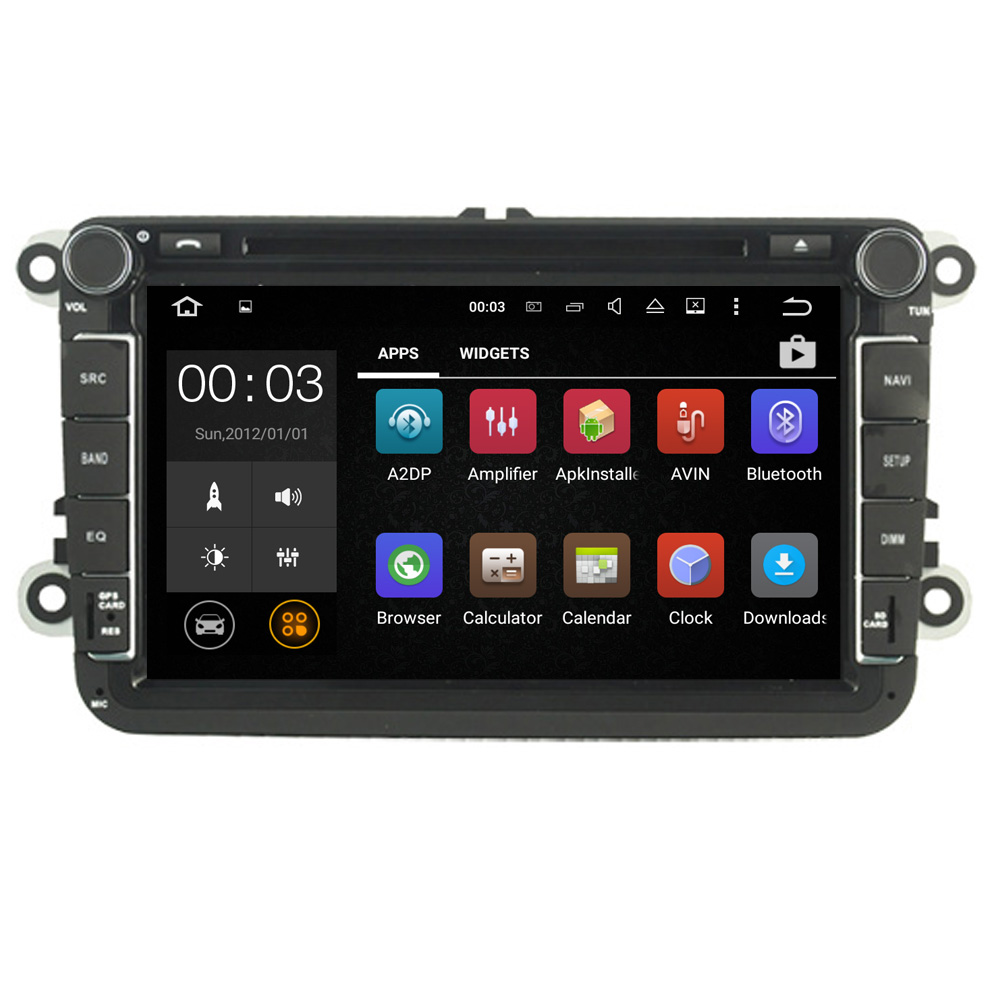 "8"" Quad core 2DIN Pure Android 5.1.1 Car DVD GPS Player for VW GOLF 5 2006-2012 WIFI Bluetooth Mirror-link SWC GPS Navigation"