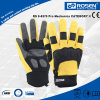 RS SAFETY SBR outlined microfiber 3D mesh yellow autos driving gloves