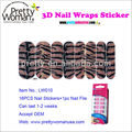 16 PCS Big Size Nail Wrap Foil Stickers 3D Diamond Nail Sticker Factory Pretty Woman