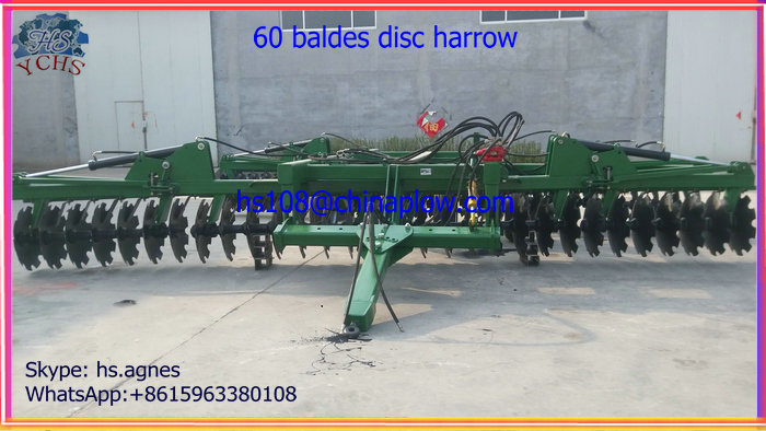 Farm implements tractor 60 blades disc harrow /drag harrow made in YCHS