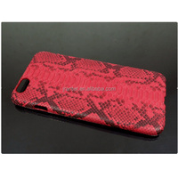 High Quality Custom for iPhone 6 Case , Real Python for iPhone 6 Leather Cover