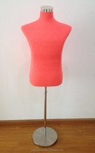 half body tailor mannequin male dummy covered with flame retardant fabric