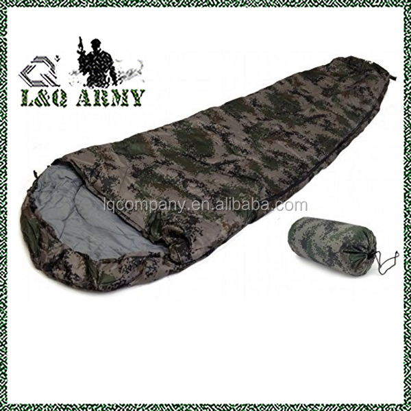 Sleeping Bag Type 8' Foot Camouflage Army Degrees Carry Bag New