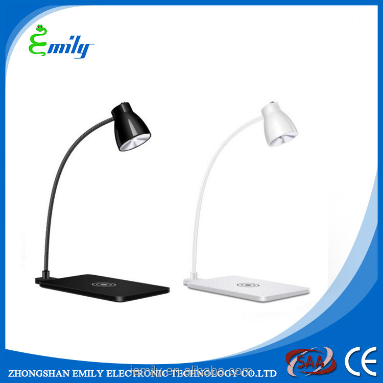 Table lamp with wireless charger,Qi wireless charger,wireless mobile phone charger