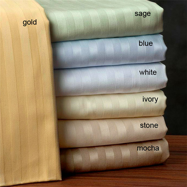 100% cotton pure satin stripe fabric for beddings sets