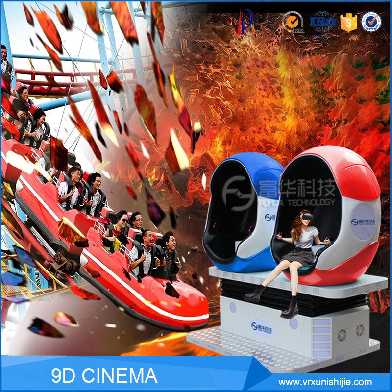 2017 Hot 360 Degree Motion Rides Virtual Reality 2 Seats Egg Chair Vr 9D Cinema Simulator