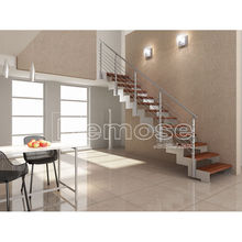stainless steel hand rail for interior stairs/non slip wood stairs/models of stairs in l