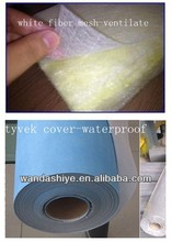Glass wool roll cover with waterproof and breathable membrane