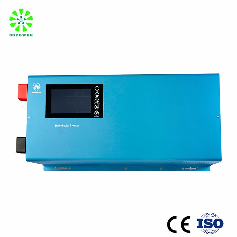 5000W hybrid solar power inverter,power inverter connected grid tied with battery storage