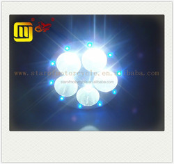 motorcycle colorful led head light lamp 5 beads led headlight
