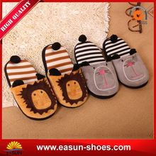 Pu shoes from thailand Fleece house slipper