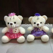 12 cm popular dressed teddy bear , animation japanese bear toys