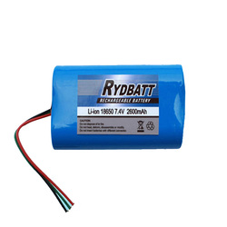Li-ion 7.4V 1800mAh battery pack for christmas lights