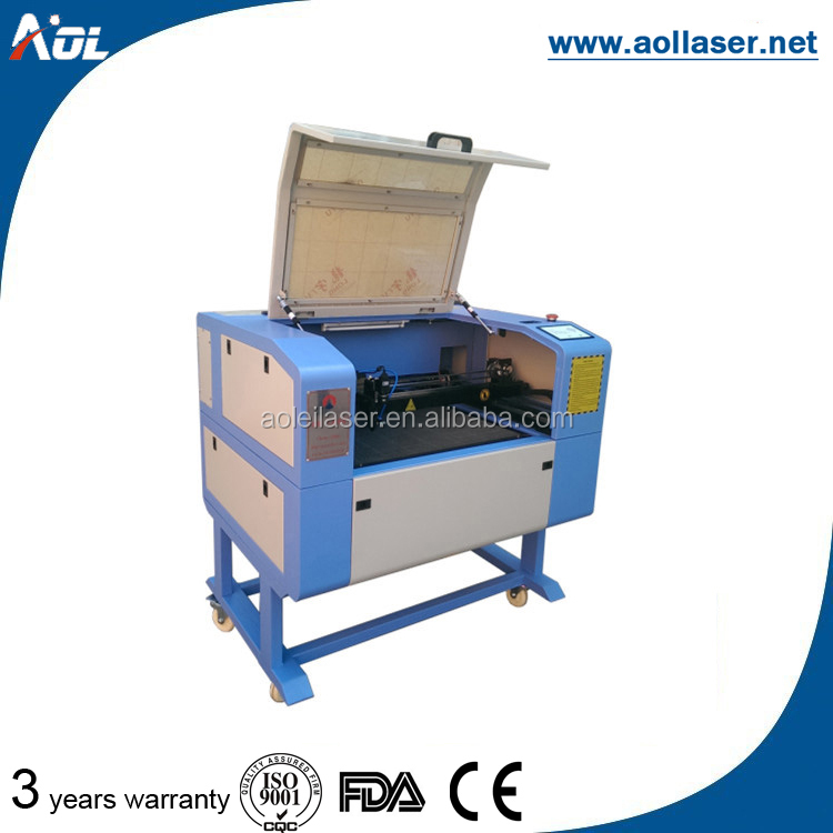 2016 hot sale mini AOL6040 craft/acrylic/wood/paper laser cutting engraving machine