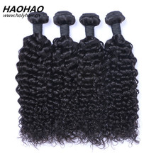wholesale 100% natural color unprocessed deep curly virgin remy malaysian human hair bundles hair weaves with closure frontal