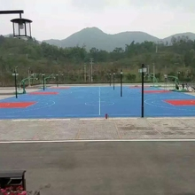 Outdoor used ground cover customized design backyard basketball flooring