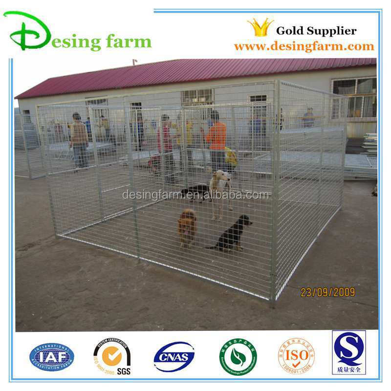 hot dip galvanized iron fence dog kennel