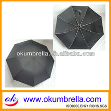 Wholesale Curve Handle Black Folding Umbrella For Promotional