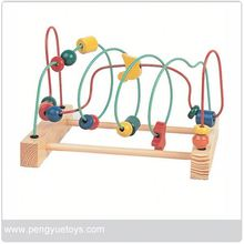Wooden Beads n' Wire Maze Roller Coaster