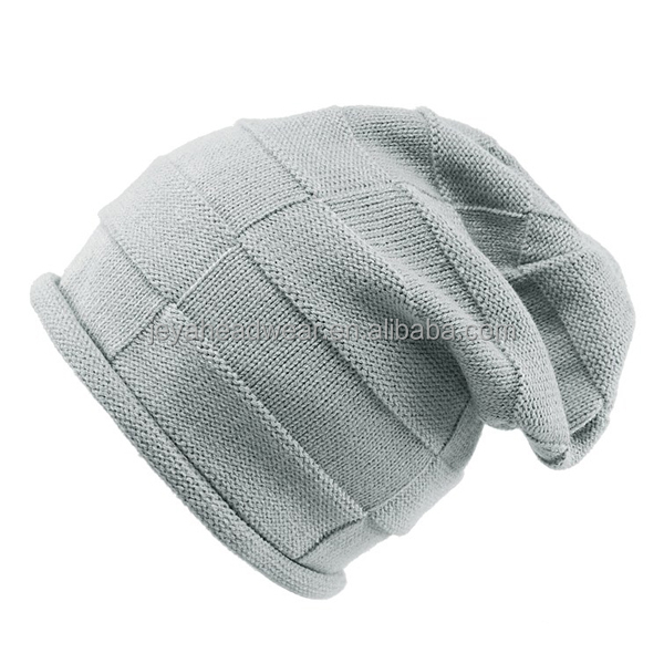 Fashion slouchy baggy knitted beanie cap soft ladies hats kids hats novely warm winter hats caps