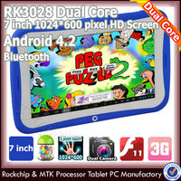 Hot cloroful rockchip klastor android 4 1 kids 7 inch tablet case