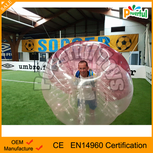 Factory price funny roll inside inflatable ball,inflatable belly bumper ball,bubble suit