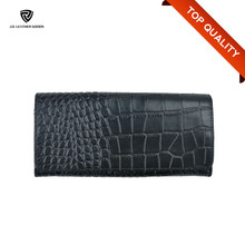Long Black Crocodile PU Wallet/Cheap Ladies Wallets/Custom Wallet Manufacturer