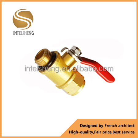 low price hand operated union end 1/2 inch brass ball valve PN 20 made in Yuhuan