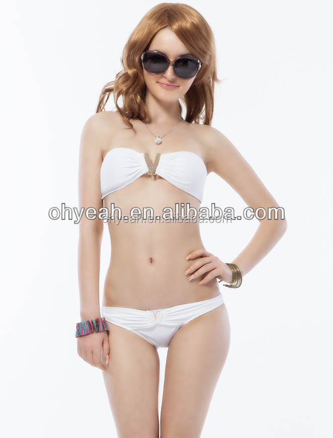Wholesale in stock OHYEAH New design white color sexy xxx photos 2016 fashion bikini