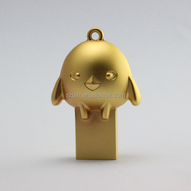 Mini style high Capacity promotional bulk chicken shape metal usb flash drive manufacturer for 1 dollar gift