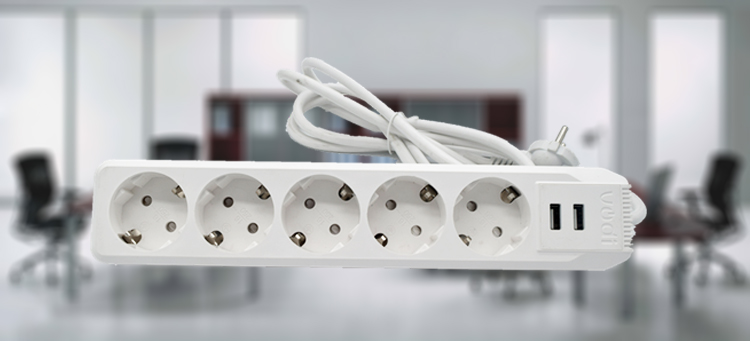 alibaba europe plug 5 outlets extension socket German electrical power strip surge protector usb charging ports europe strip
