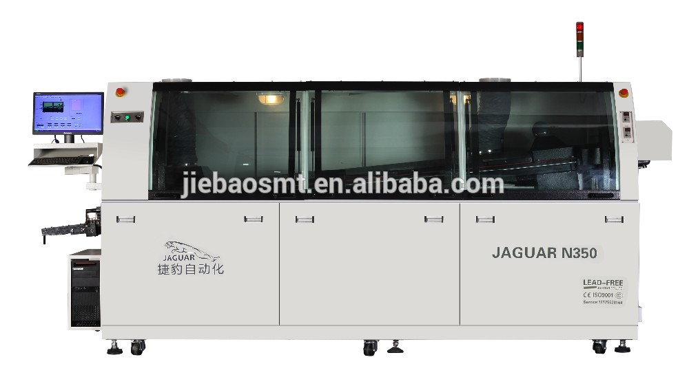 Jaguar SMT dual wave soldering machine for THC THD soldering production line