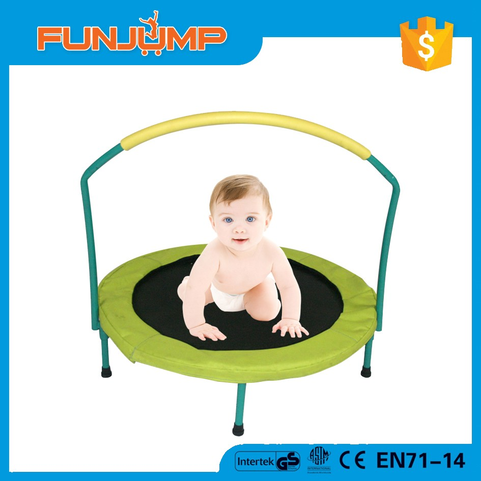 FUNJUMP folding kids indoor trampoline bed with handle toys for kids