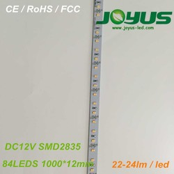 high power smd2835 led strip rigid FR4 pcb 12v 84leds/m 12mm