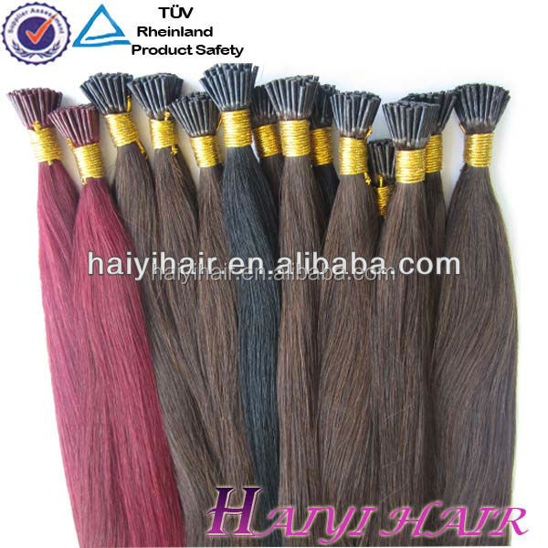 Wholesale Price Remy Italian Keratin Double Drawn factory price I tip hair body wavy