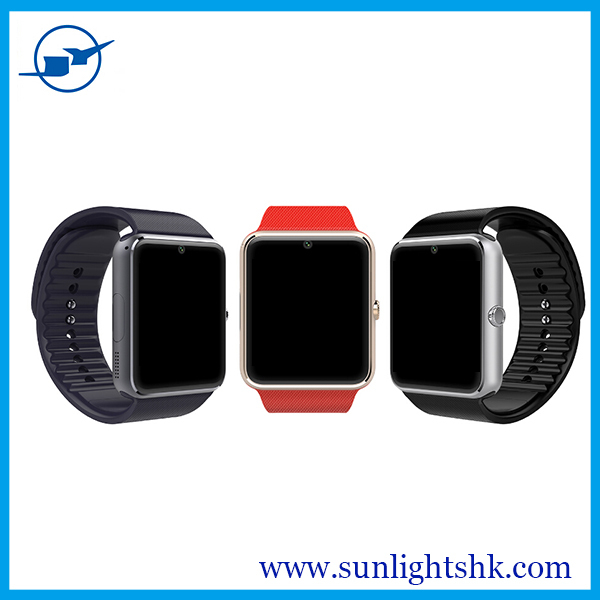 2015 new design good face 1.5 inches bluetooth nfc smart watch GT08 with sim card phone call function
