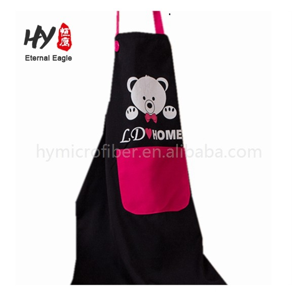 New style printed disposable cotton pockets apron