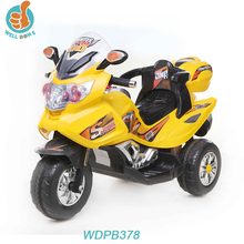 Best selling mini electric kids motorcycle for baby with three wheel and LED light WDPB378