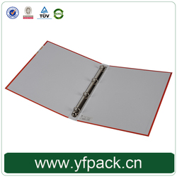 Professional custom hardcover A4 3 ring binders with matel clip