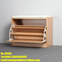 Shoes storage wood stool,stool ottoman,shoes-changing bench