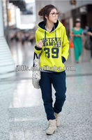 2013 winter wear sports set thickening fleece sweatshirt women's leisure suit coat +pants 3color M-L wholesale