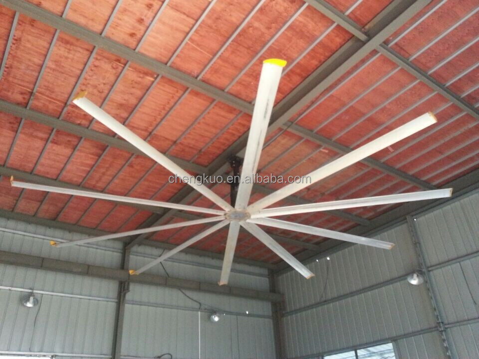 Industrial pedestal big ceiling fan