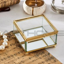 ARTHOME Home Decoration Glass Transparent Jewelry Gift Boxes